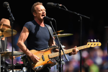 MELBOURNE, AUSTRALIA - OCTOBER 01:  Sting performs at the 2016 AFL Grand Final match between the Sydney Swans and the Western Bulldogs at Melbourne Cricket Ground on October 1, 2016 in Melbourne, Australia.  (Photo by Quinn Rooney/Getty Images)