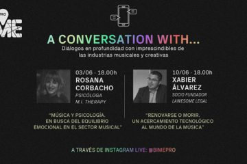 Cartel Charlas BIME PRO, 'A conversation with...'
