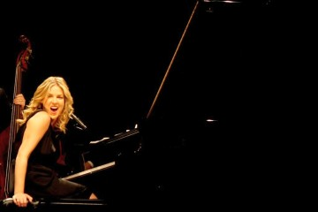 Jazz pianist Diana Krall at a concert in Cologne, Germany