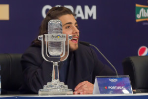 Salvador and Luísa Sobral at the Eurovision 2017 Winner's Press Conference