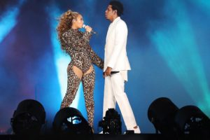 ICULT COPENHAGEN DK - JUNE 23 Beyonce and Jay-Z perform on the On The Run II tour at Parken Stadium on June 23 2018 in Copenhagen Denmark Photo by Robin Harper Parkwood PictureGroup Live Nation